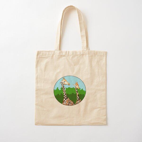 Sassy Giraffes Cotton Tote Bag