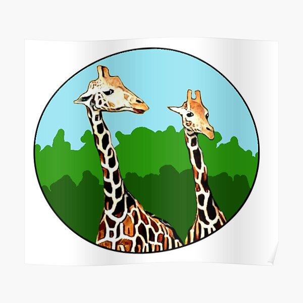 Sassy Giraffes Poster