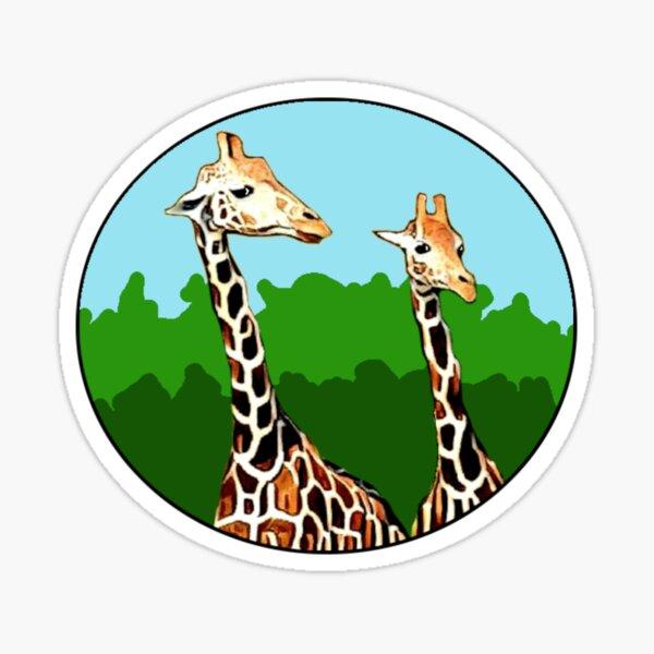 Sassy Giraffes Sticker