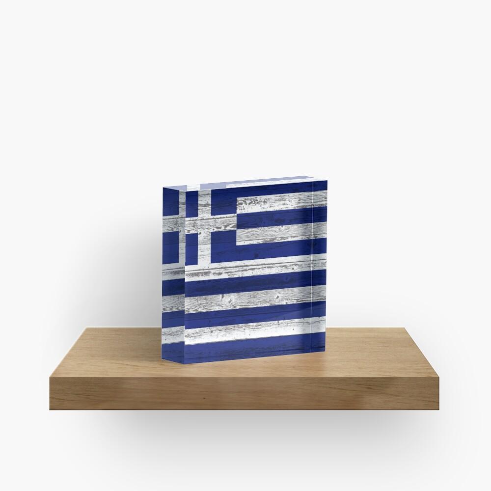 Greece flag Acrylic Block