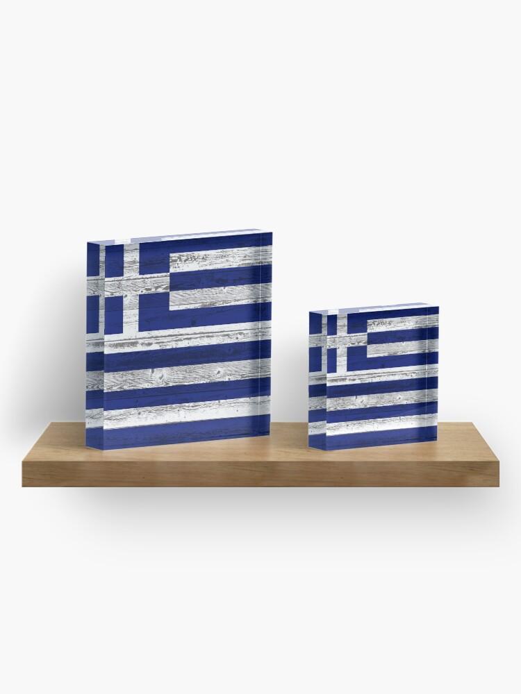 Alternate view of Greece flag Acrylic Block