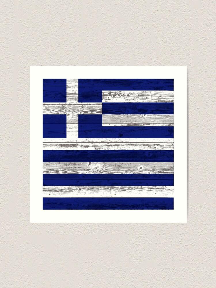 Alternate view of Greece flag Art Print