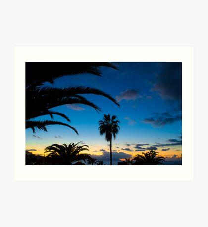 Sunset in Tenerife Art Print