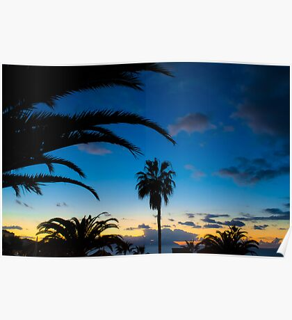 Sunset in Tenerife Poster