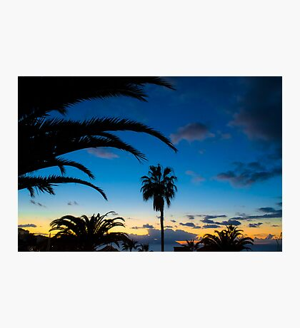 Sunset in Tenerife Photographic Print