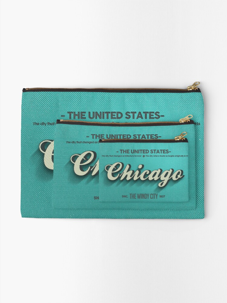 Alternate view of Vintage Chicago Zipper Pouch
