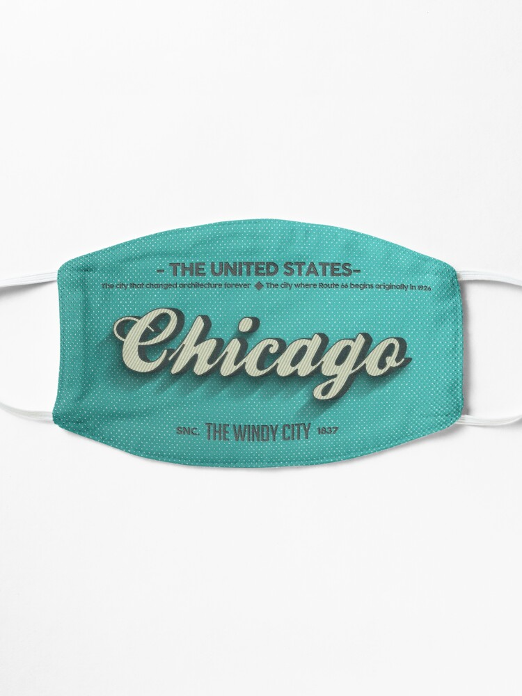 Alternate view of Vintage Chicago Mask