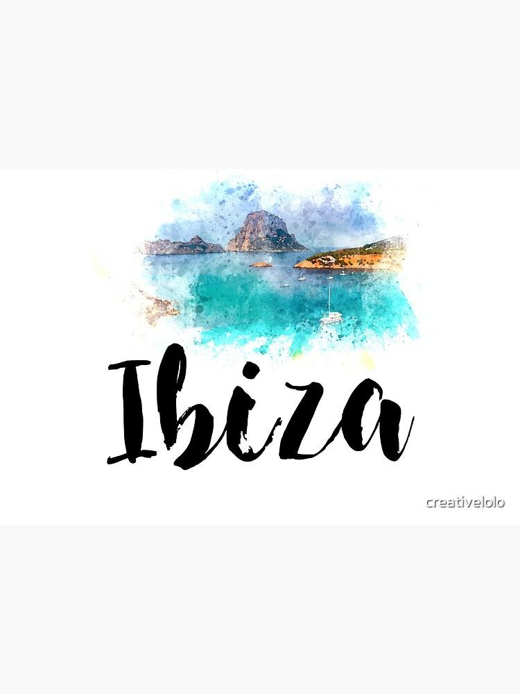 Watercolor Ibiza by creativelolo
