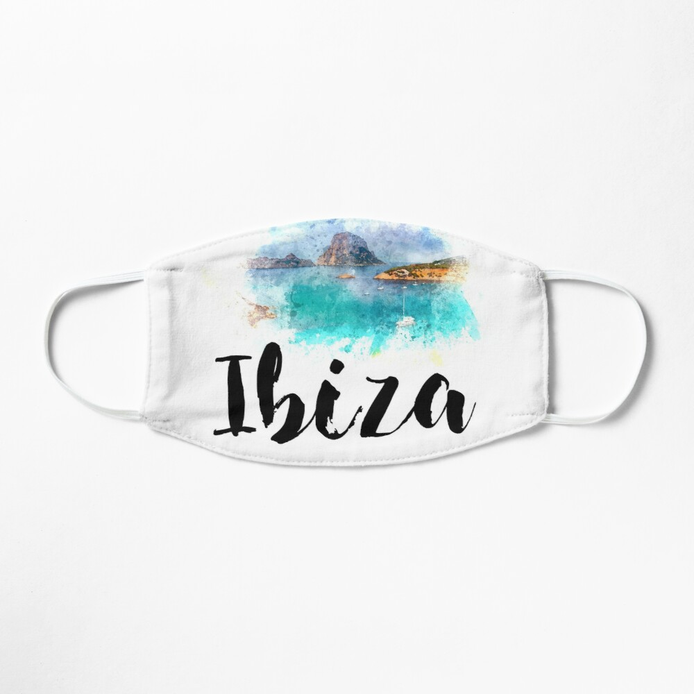 Watercolor Ibiza Mask