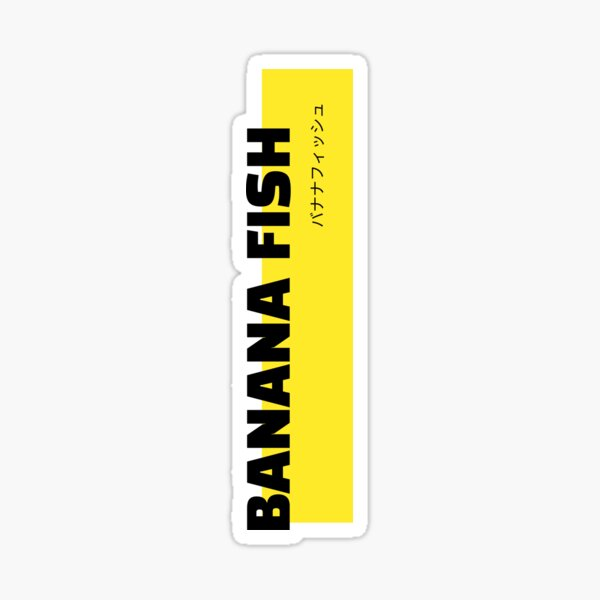 Poisson banane Sticker