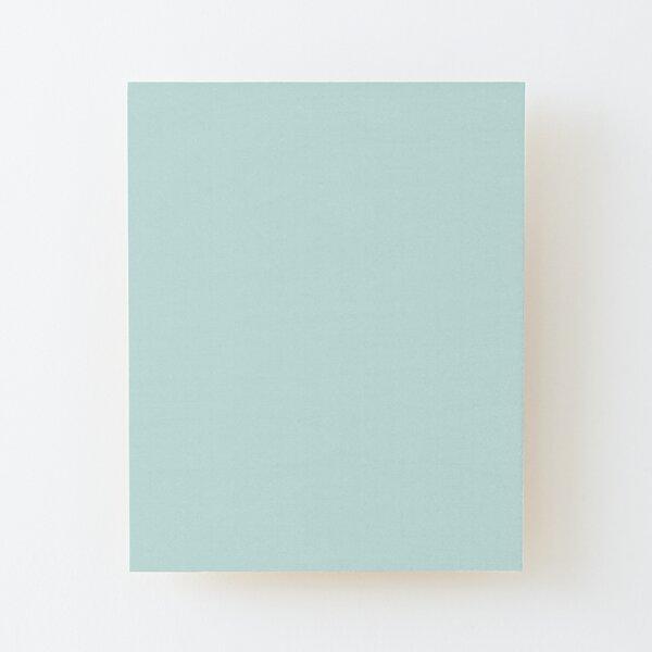 Aquamarine Ultra Pale Blue Green Trending Pares de colores sólidos para Behr Tahitian Sky M460-1 Lámina montada de madera
