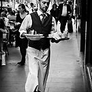 Waiter - Melbourne by Christine Wilson