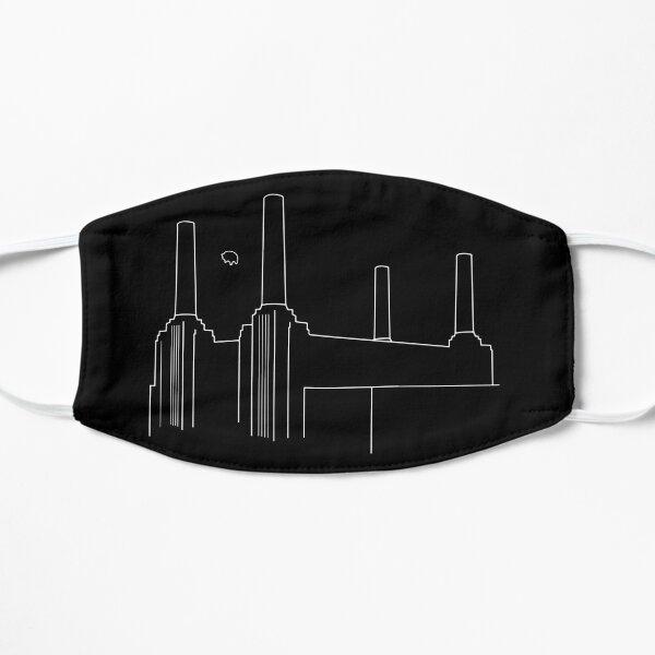 Pink Floyd Animals Minimalistic White on Black Flat Mask
