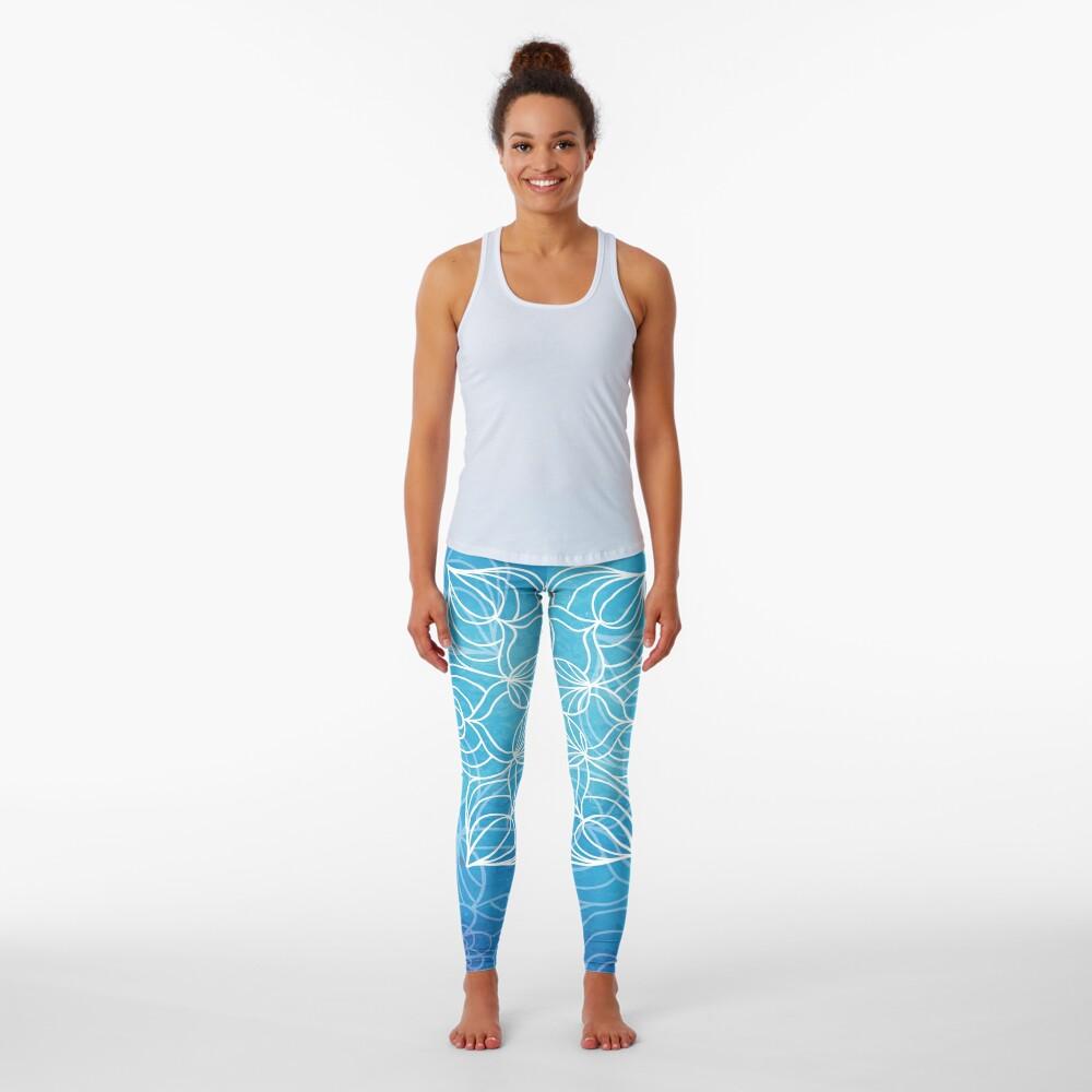 Blue mandala Leggings