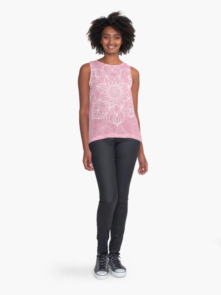 Vista alternativa de Blusa sin mangas Pink mandala