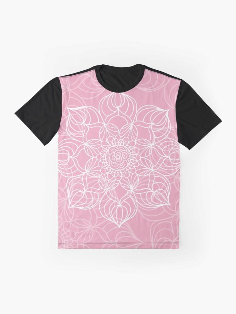 Vista alternativa de Camiseta gráfica Pink mandala