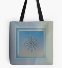 Wheel of time, real snowflake photo Tote Bag