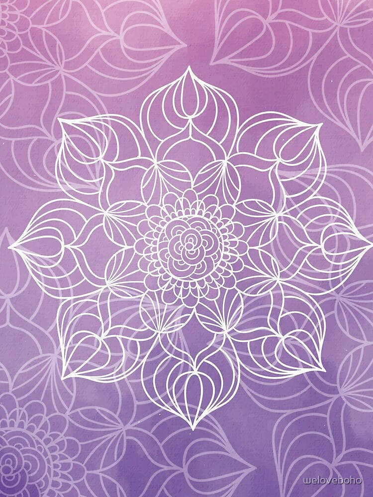 Purple mandala de weloveboho