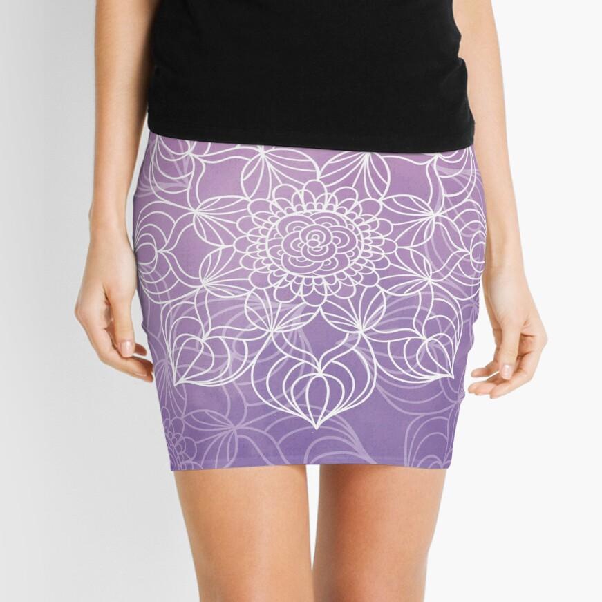 Purple mandala Minifalda