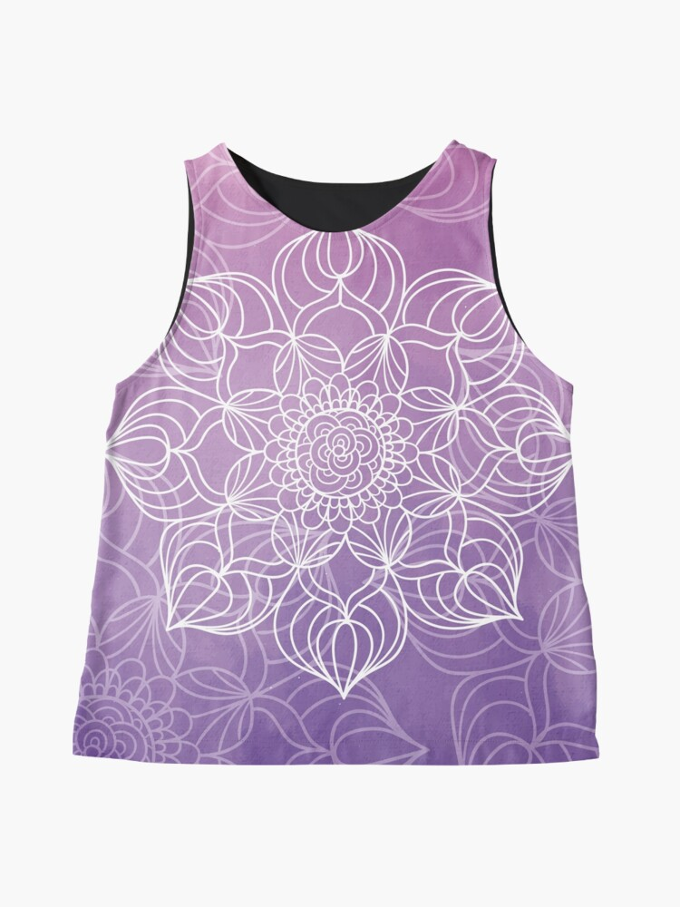 Vista alternativa de Blusa sin mangas Purple mandala
