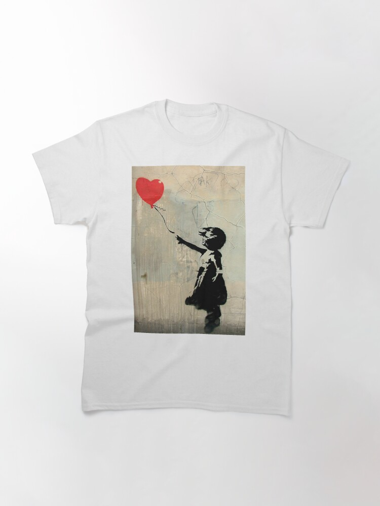 Alternate view of Banksy Red Heart Balloon Classic T-Shirt