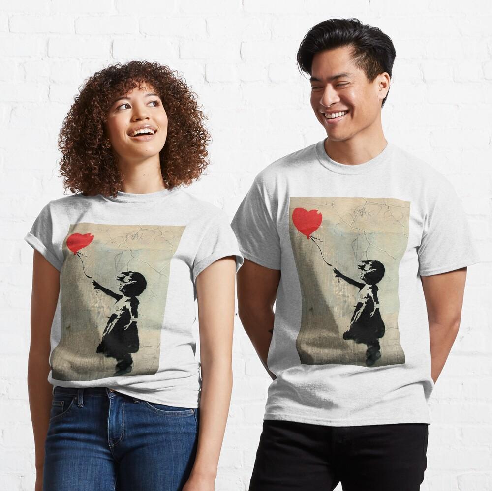 Banksy Red Heart Balloon Classic T-Shirt