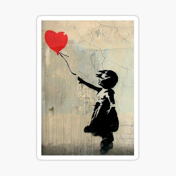Banksy Red Heart Balloon Sticker