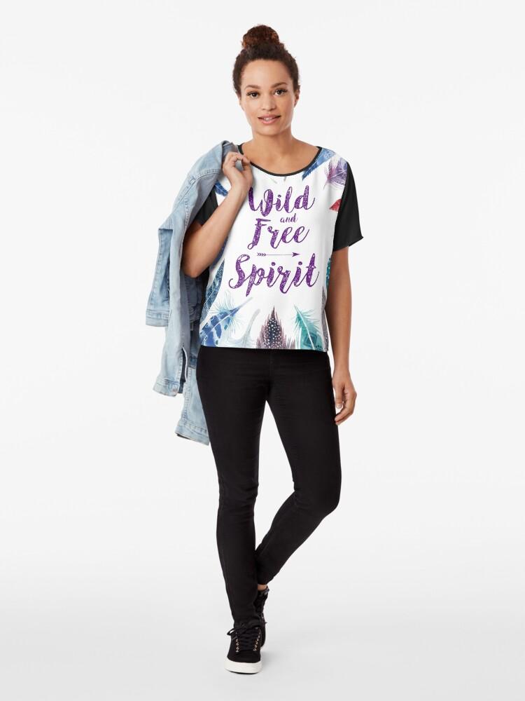 Vista alternativa de Blusa Feathers, Wild and free spirit