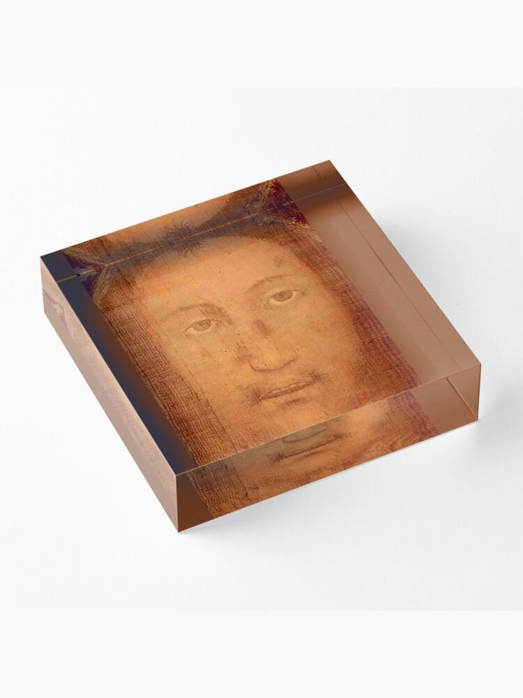 Alternate view of CHRIST. JESUS. CHRISTIANITY. Veil of Veronica, Sudarium, Manoppello Image. Acrylic Block