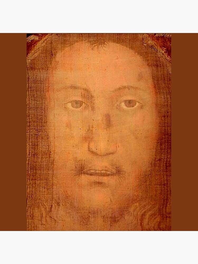 CHRIST. JESUS. CHRISTIANITY. Veil of Veronica, Sudarium, Manoppello Image. by TOMSREDBUBBLE