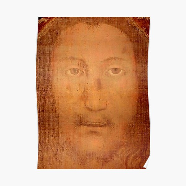 CHRIST. JESUS. CHRISTIANITY. Veil of Veronica, Sudarium, Manoppello Image. Poster