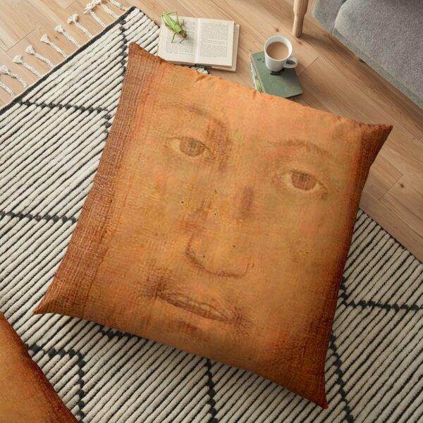 CHRIST. JESUS. CHRISTIANITY. Veil of Veronica, Sudarium, Manoppello Image. Floor Pillow