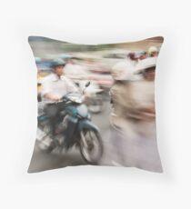 Ho Chi Minh motorbikes Throw Pillow