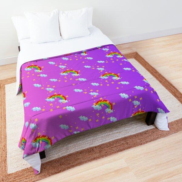 Pixel Rainbow (Pink/Purple variant) Comforter