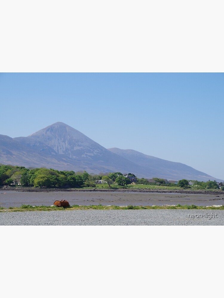 Croagh Patrick from Westport Quay by neon-light