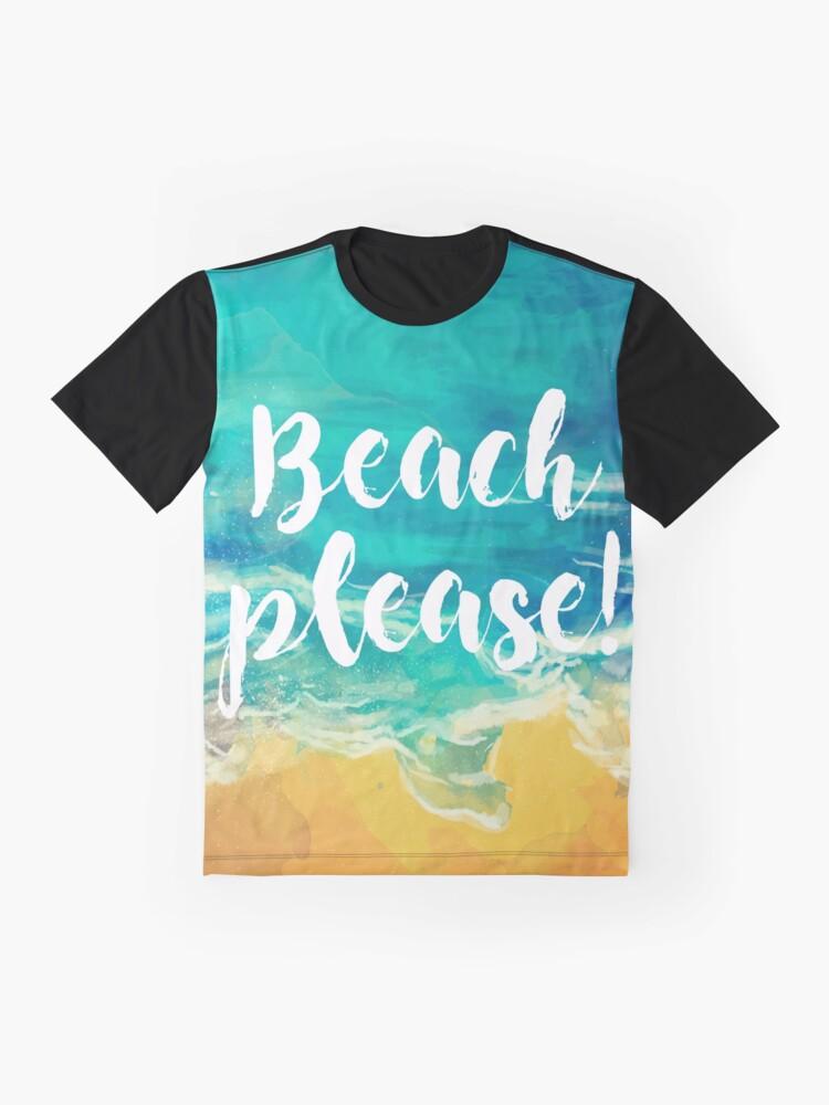 Vista alternativa de Camiseta gráfica Beach Please!
