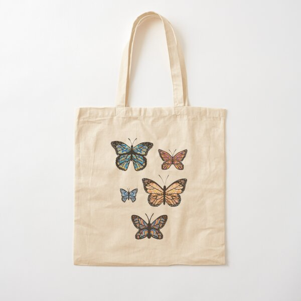 Butterfly Sticker Set 1 + Tote Bag + Mask Cotton Tote Bag