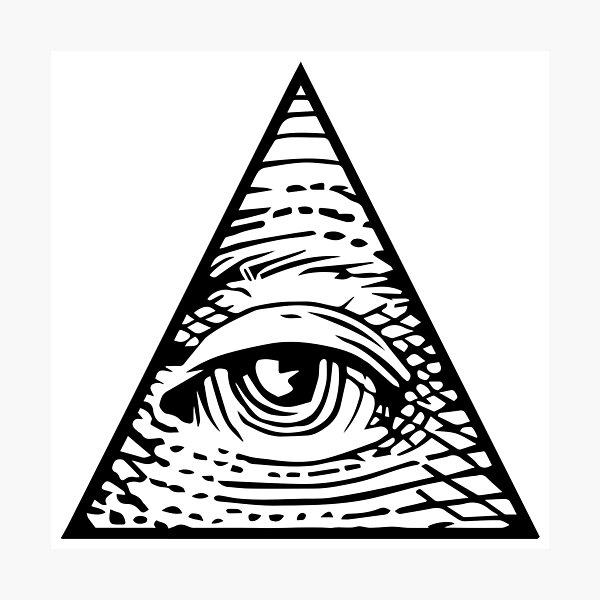 illuminati Eye of Providence Photographic Print