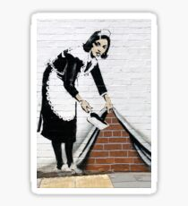 Banksy Maid Sticker