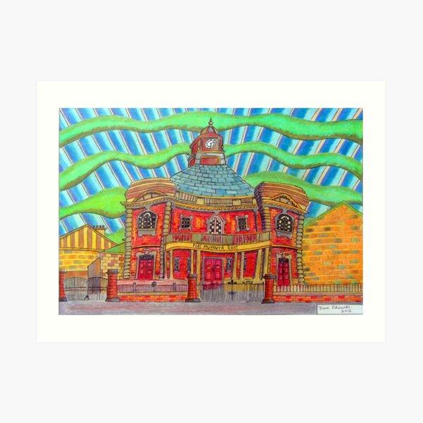 380 - PLAS MWYNWYR, RHOS - DAVE EDWARDS - COLOURED PENCILS - 2013 Art Print