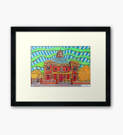380 - PLAS MWYNWYR, RHOS - DAVE EDWARDS - COLOURED PENCILS - 2013 Framed Print