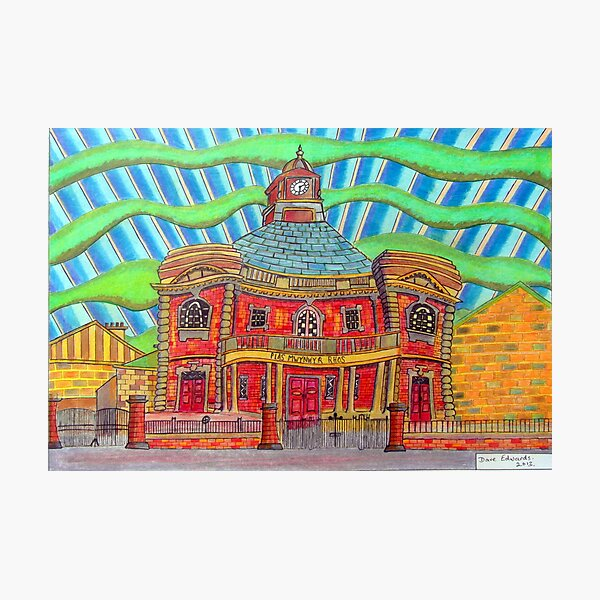 380 - PLAS MWYNWYR, RHOS - DAVE EDWARDS - COLOURED PENCILS - 2013 Photographic Print