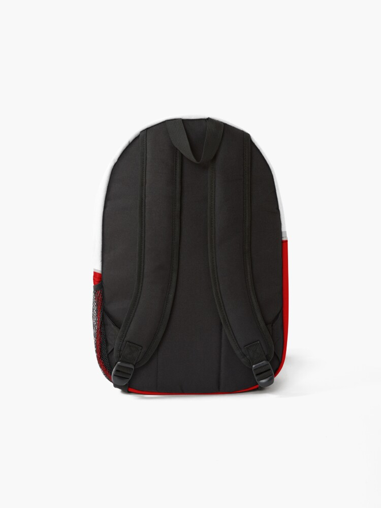 Alternate view of Red tractor, Case 160. Backpack