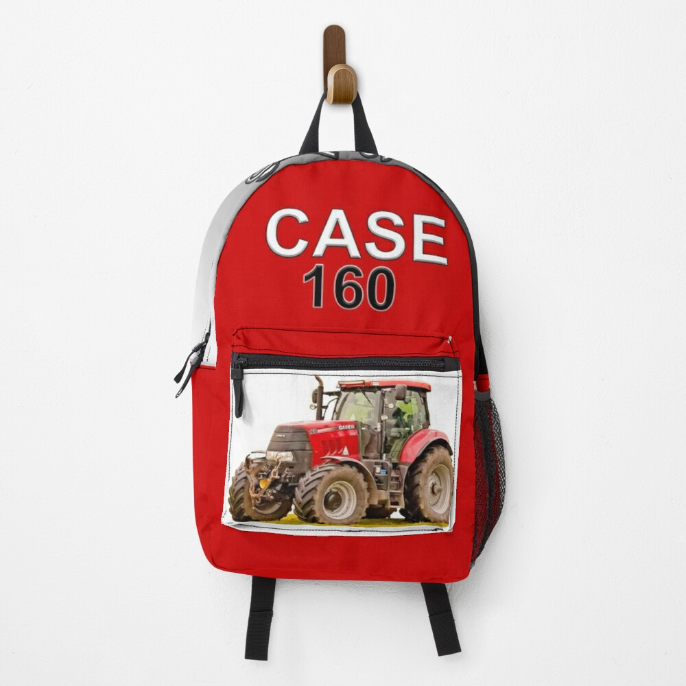 Red tractor, Case 160. Backpack