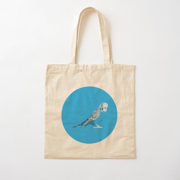 Blue Budgie! Cotton Tote Bag
