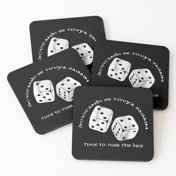 Time To Toss The Dice - Wheel of Time  Coasters (Set of 4)