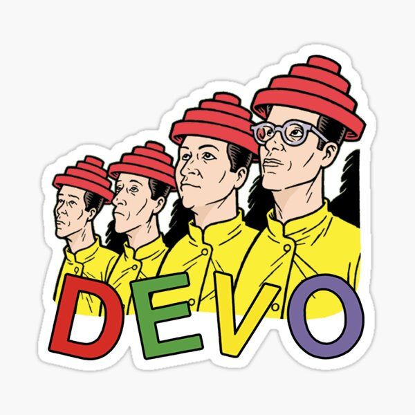 Devo Cartoon Band Graphic Sticker
