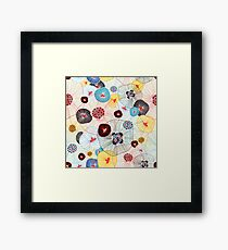 abstract pattern Framed Print