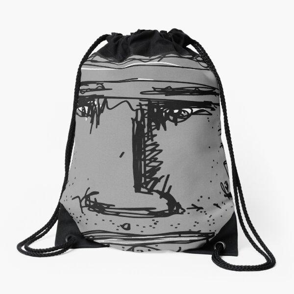 Ugly Grey Drawstring Bag