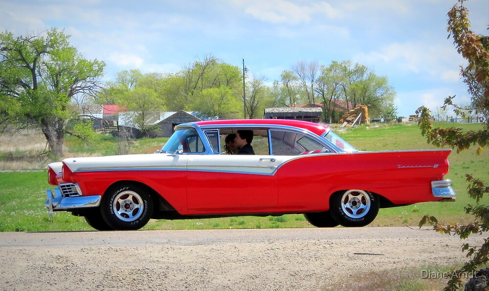 Prom Chariot...57 Ford Fairlane 500 by Diane Arndt